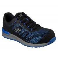 Skechers 77180 Blu Bulklin Comp Toe