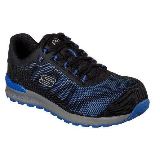 Skechers 77180 Blu Bulklin Comp Toe