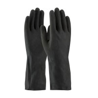 PENTAGON - INDUSTRIAL LATEX GLOVES - BLACK